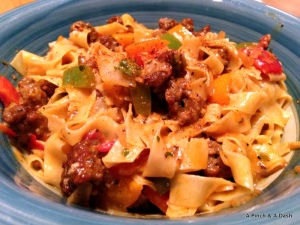 Cajun Pasta with Andouille Sausage and Peppers